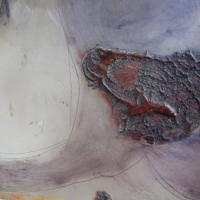 détail - planche de gravure, plexi et carborundum, encadrée de résine