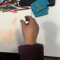 Magda Moraczewska atelier arts plastiques, dessin au pastel