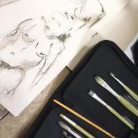 Magda Moraczewska atelier arts plastiques, matériel de dessin et peinture