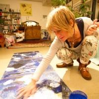 séance de photos dans l'atelier de Magda