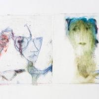 muette 5 - photogravure, solar plate, gravure, pointe sèche