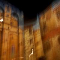 Avignon nuit 4, photographie, ville, pose longue, flou