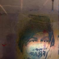 troubles au corps 01, photographie, reflet, plaque de plexiglass encrée