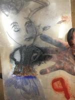 les corps troubles 05, photographie, reflet, plaque de plexiglass encrée