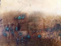 paysage trouble, photopraphie, reflet, plaque de cuivre encrée