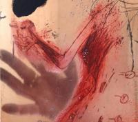 les corps troubles 09, photopraphie, reflet, plaque de cuivre encrée