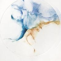 série cocon, 4 - gravure, pointe sèche, monotype