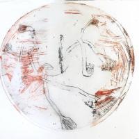 série sphères, 1 - gravure, pointe sèche, eau forte, monotype