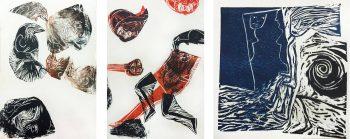 gravure sur Lino pour l'exposition l'été Contemporain Dracenois
