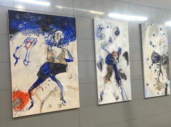 ARTCITE - accrochage peintures collages