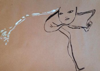 Butô - dessin au feutre