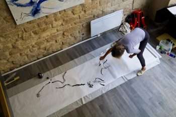 Exposition de Magda Moraczewska et Kolya San à l'Espace 130, Paris - dessin