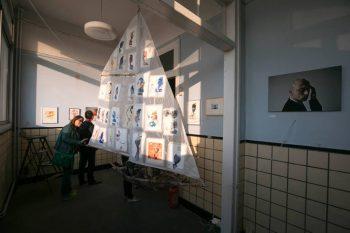 """Magda Moraczewska, installation """"et vogue le navire"""" Biennale de Gentilly"""