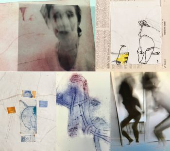 gravures, dessins, collages